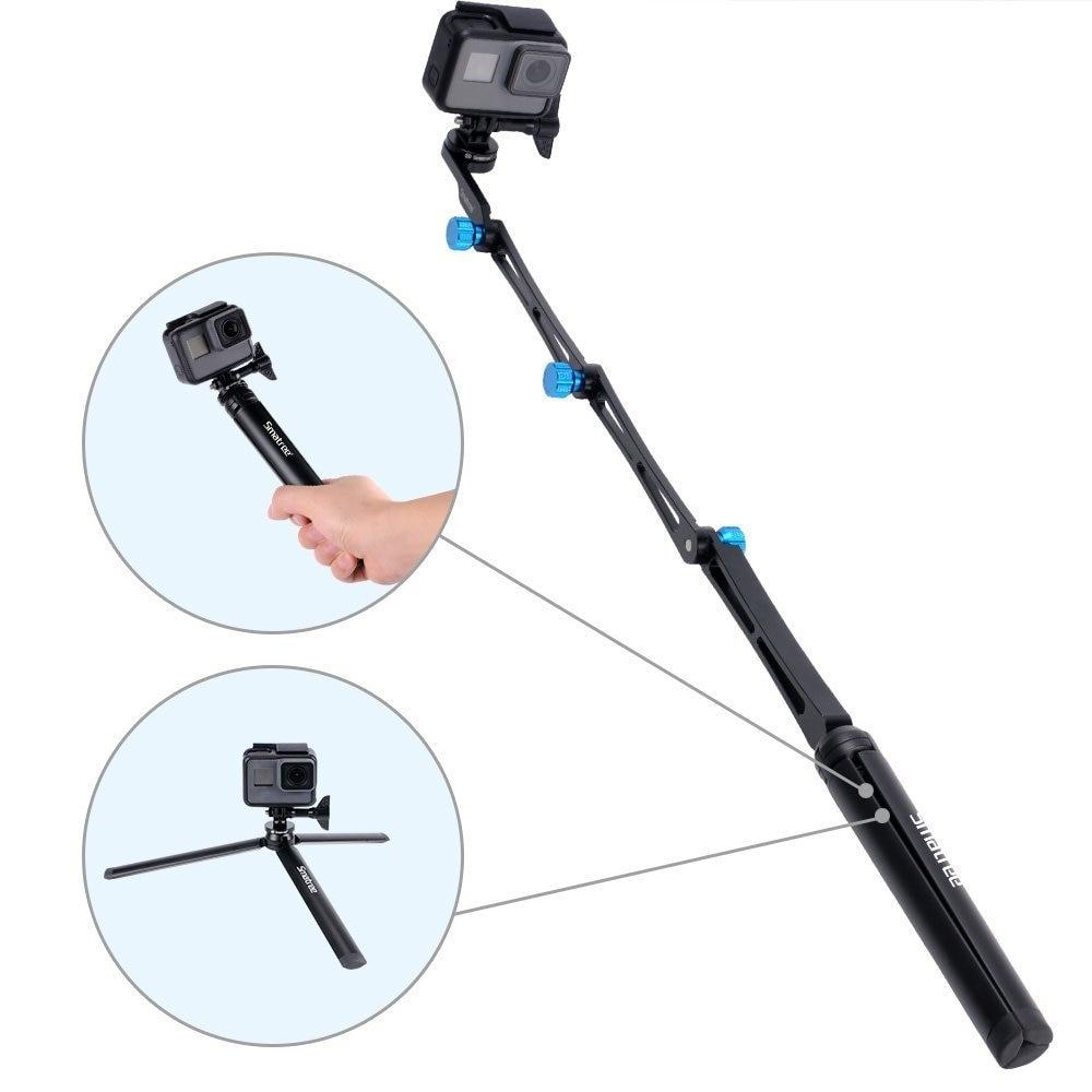 Smatree X1S pour DJI OSmo caméras d'action pôle pliable/monopode trépied robuste pour GoPro Hero 7/6/5/4/3 +/3/Session caméras-in Accessoires pour caméscope from Electronique    2