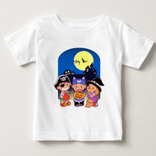 Halloween Cartoon T-Shirt Tops Cartoon Children T Shirts Boys Kids T-Shirt Clothing baby Girls T-Shirts Cotton Clothing T-shirt t shirts frutto rosso for girls and boys sm117k021 top kids t shirt baby clothing tops children clothes
