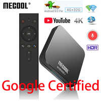 MECOOL KM9 PRO TV Box Android 9.0 Google Certified 4G DDR4 32G ROM Smart TV Box Amlogic S905X2 BT4.1 2.4G/5G Wifi Media Player