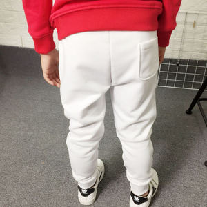 Image 2 - New 2019 Kids Boys Sport Pants Children Long Trousers Cotton Spring Sweatpants For teenage Casual Solid White&Black Sweatpants