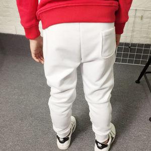 Image 2 - Pantalones deportivos para niños y adolescentes pantalones largos de algodón, pantalones de chándal de primavera, informales, Blanco sólido y negros, novedad de 2019