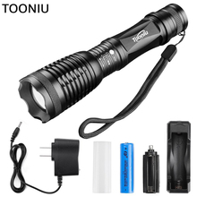 Tooniu CREE XML-L2 4500LM Lumens LED Flashlight Zoomable T6 LED Torch Lantern Portable Super Bright Flashlight Lantern