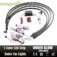 7 Color LED Strip Under Car Tube Underglow Underbody System Neon Lights Kit Ma8 Levert Dropship