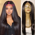 100% Remy human hair lace frontal wig natural color cheap indian virgin hair wig glueless lace front human hair with baby hair