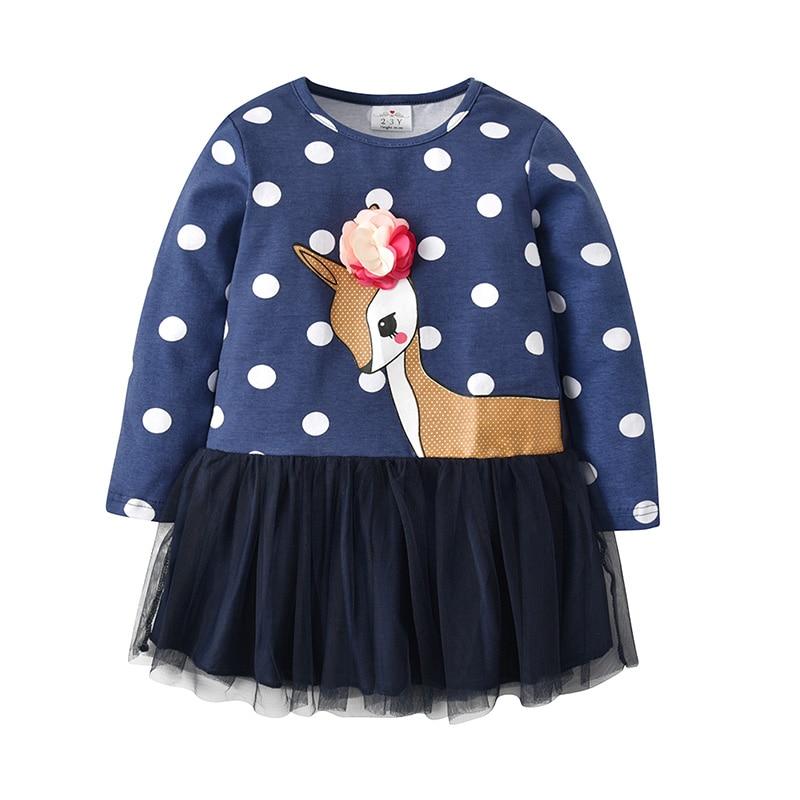 HTB1bcKEXovrK1RjSspcq6zzSXXaV VIKITA Kids Girls Dress Baby Children Toddler Princess Dress Vestidos Children's Clothing Girls Winter Dresses 2-8Y LH5805 MIX