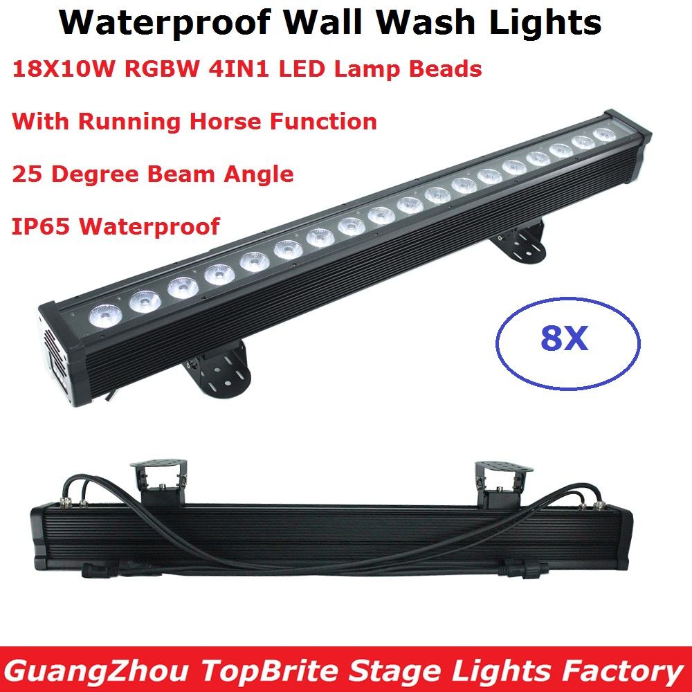 18X10W RGBW 4IN1 Waterproof LED Wall Wash Lights DMX Stage Wash Wall Lights LED Dj Party Lights IP65 For Outdoor Lighting Shows18X10W RGBW 4IN1 Waterproof LED Wall Wash Lights DMX Stage Wash Wall Lights LED Dj Party Lights IP65 For Outdoor Lighting Shows
