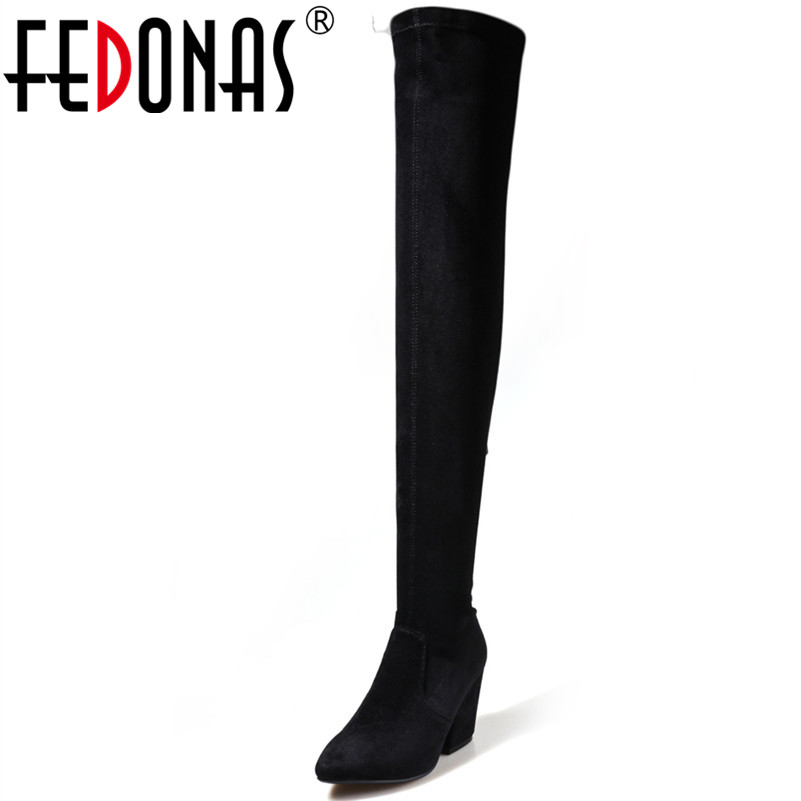 FEDONAS 1New Arrival Women Over The Knee Boots Autumn Winter Warm High Heels Shoes Woman Round Toe Zipper Party Prom High BootsFEDONAS 1New Arrival Women Over The Knee Boots Autumn Winter Warm High Heels Shoes Woman Round Toe Zipper Party Prom High Boots