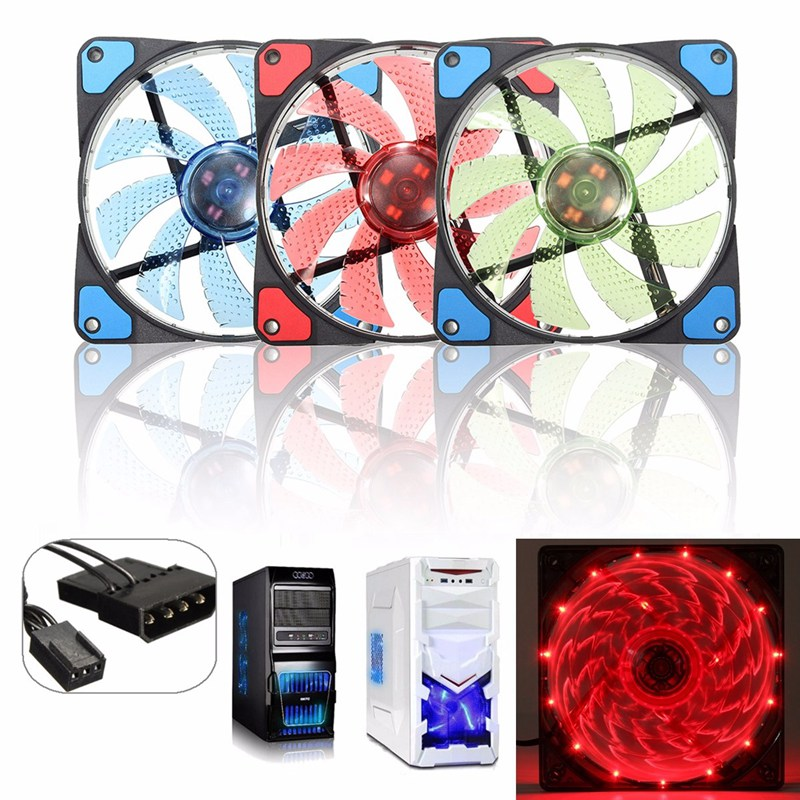 2100RPM 3Pin/4Pin Silent Computer Case Fan Cooling12V LED 120mm  CPU Cooler Thermal Heat Sink For PC Laptop Notebook 120x120x25m medium computer cpu plastic cooling fan leaves card blower heat sink