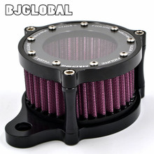 Aluminum CNC Air Cleaner Dyna Softail Filter Intake System For Harley Sportster XL 883 1200 2004-2015 Air Filters kit
