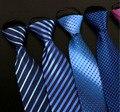 Alta calidad nuevos diseñadores de la marca de lujo hombres de negocios caballero Rayas Impresión de Seda Corbata Pajarita corbata de moda para los hombres