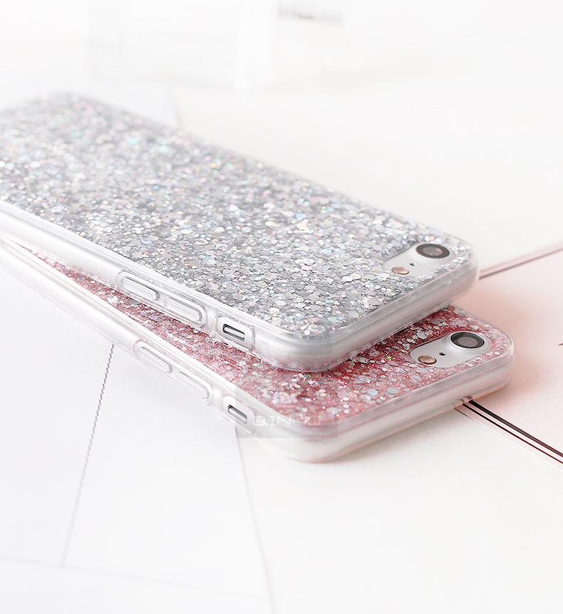 HTB1bcKzafvsK1RjSspdq6AZepXa7 - Gurioo Silicone Bling Glitter Crystal Sequins Hard shell Phone Case For iPhone 11 5 SE 6 6S 7 8 X Plus XR XS Max Protective Case