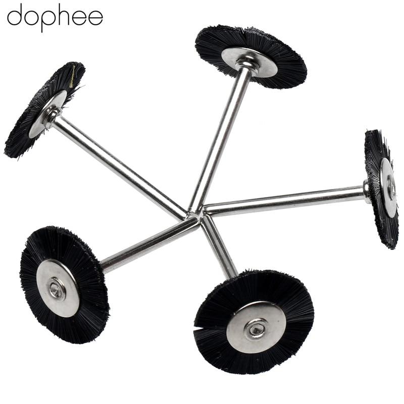 Image 4 - dophee 5PCS Dremel Accessories 3MM Shank Flat Nylon Bristle Wheels Brush Buffing Polishing Brush Wheel for Dremel Rotary Tools-in Abrasive Tools from Tools