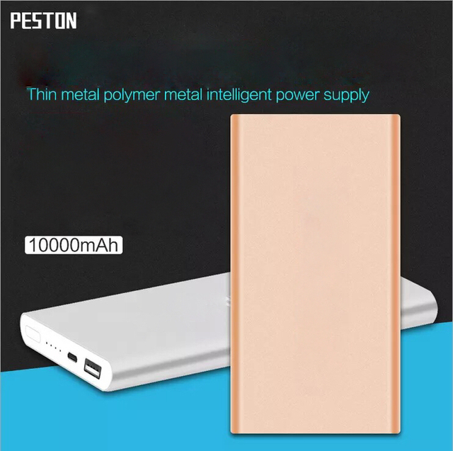 Recargar mi teléfono celular Ultra-delgado general de la batería 10000 mah aleación de aluminio es un polímero de energía móvil de carga rápida suministro
