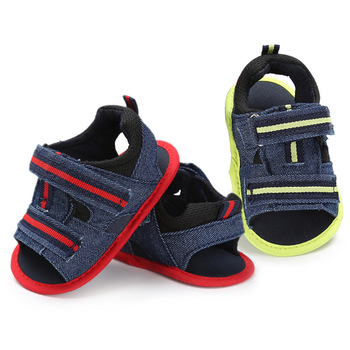 Denim Baby Shoes Sandals Baby Girl Summer Sandals Newborn Bright Strip Infant Sandals Bebek Sandalet Brand Sandal 0-12months bright baby blankies