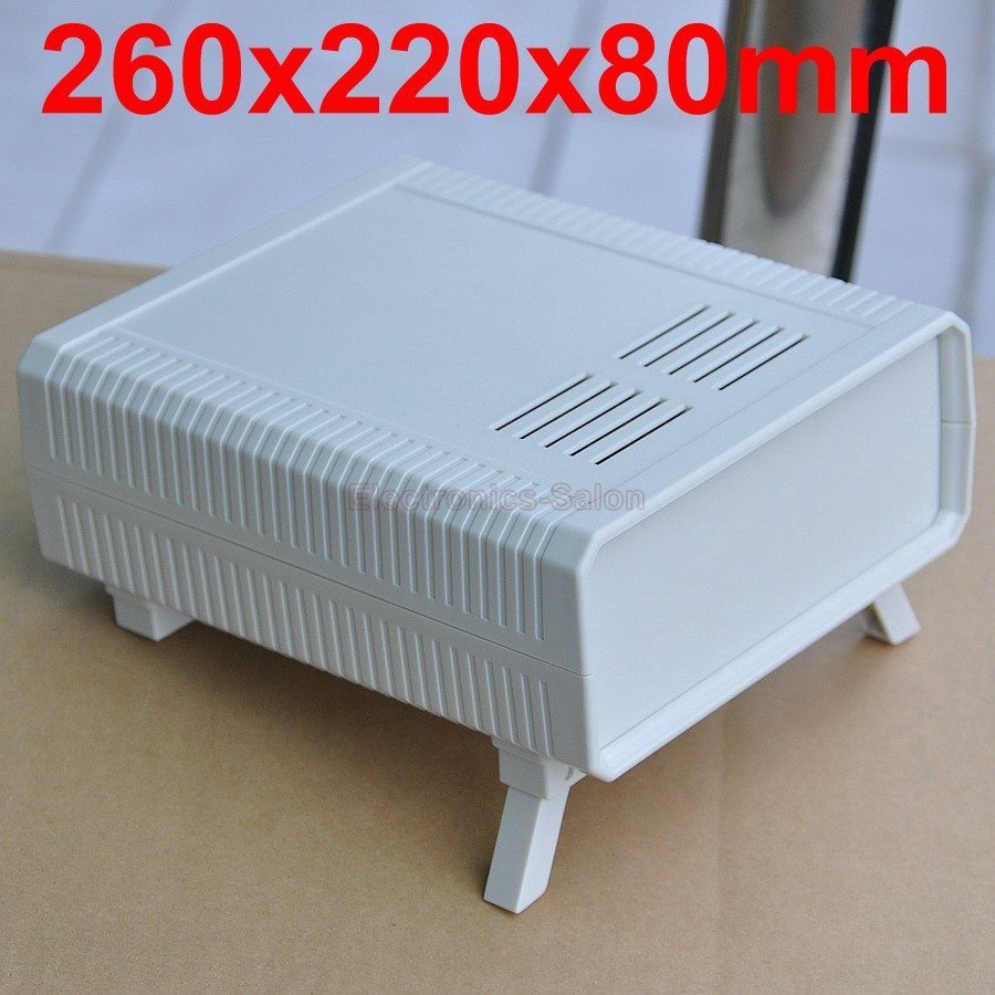 HQ Instrumentation ABS Project Enclosure Box Case,White, 260x220x80mm.