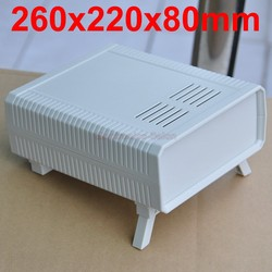 HQ Instrumentierung ABS Projekt Gehäuse Box Fall, Weiß, 260x220x80mm.