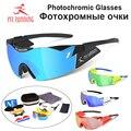 MR.RUNNING Polarized Photochromic Cycling Glasses Bike Glasses Outdoor Sports MTB Bicycle Sunglasses Goggles Eyewear ,3 lenses