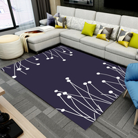 60*90cm Modern 3D printed carpet living room bedroom bedside tea table study dining room hall foyer mat anti slip floor mat