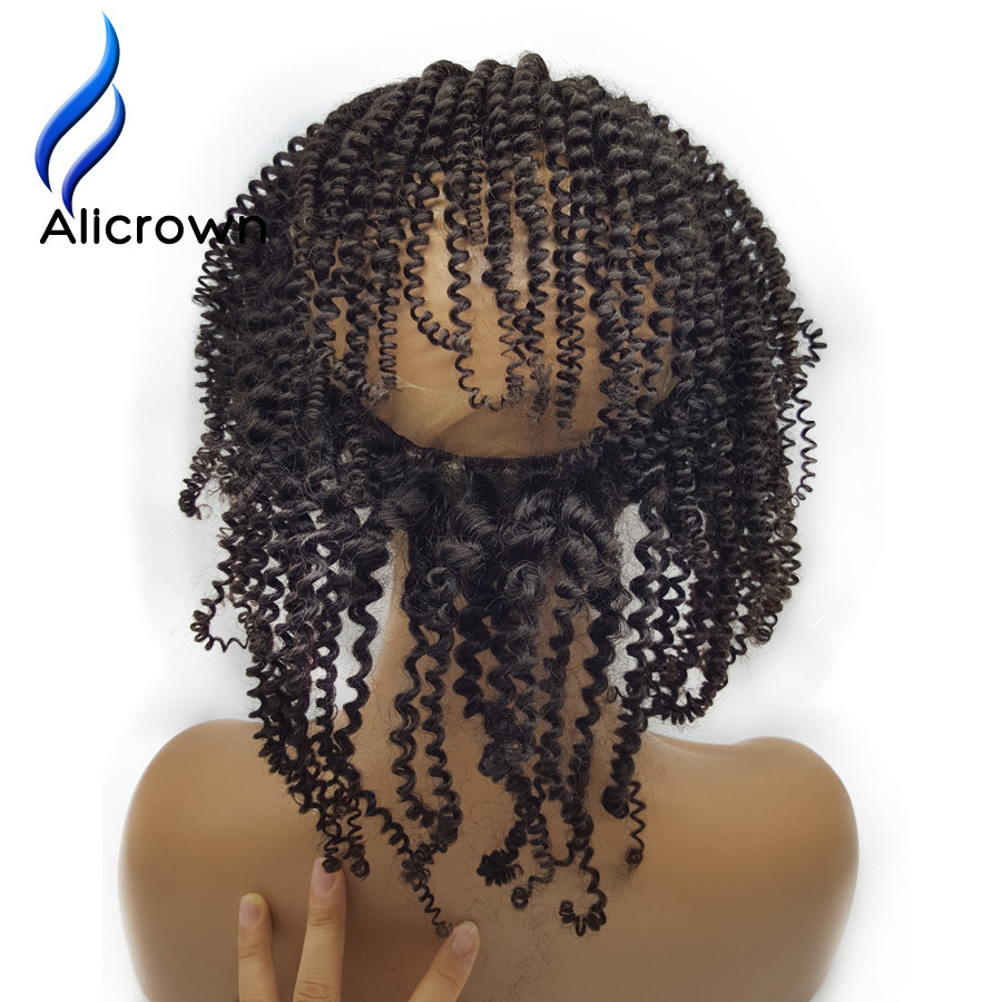 Kinky Curly Hair With Frontal Baby Hair Around Alicrown Hair 360 Lace Frontal With Bundles Kinky Curly Virgin Hair With Closu (7)