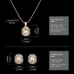 Image 5 - Shengke Rose Gold Uhren Frauen Set Luxus Kristall Ohrringe Halskette Uhren Set 2019 SK Damen Quarz Uhr Geschenke Für Frauen