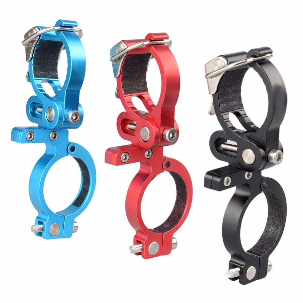 Lumiparty Bicycle Light Torch Mountain Road MTB Bike Flashlight Handle Bar Handlebar Clip Mount Bracket Holder Bike Accessories ...