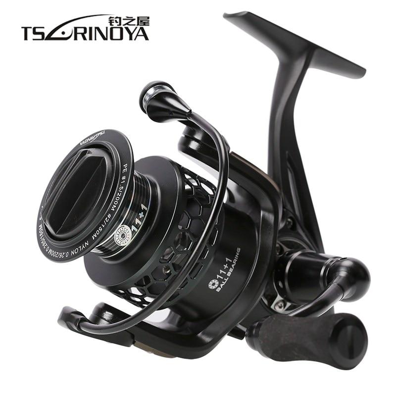 TSURINOYA TSP3000 Spinning Fishing Reel 11+1BB 5.2:1 Full Metal Fishing Reel for Saltwater/Freshwater Max Drag 8kg Wheel Pesca цена 2017