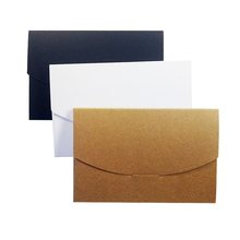 10 Pcs/lot 16x10.5x0.5cm Blank DIY Envelop Black White Kraft Paper Envelope Postcards Greeting Card Cover Photo Packaging Boxes(China)
