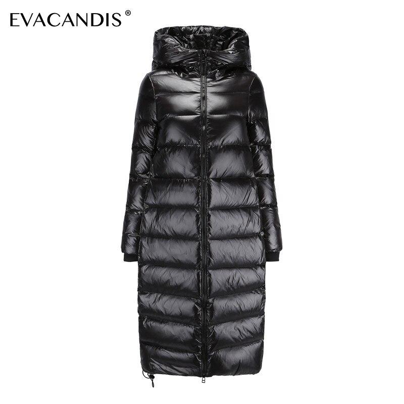 Long Black   Down     Coat   Women Thick Hooded Winter Zipper Plus Size Windproof Snow Outwear White Duck   Down   Warm Jacket Overcoat
