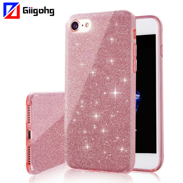 ShockProof Glitter Soft Case for Huawei P20Lite P20 lite Pro P10 P9 Plus P8Lite P8 Lite 2017 honor 6X 8 9 Lite PC+TPU Cover