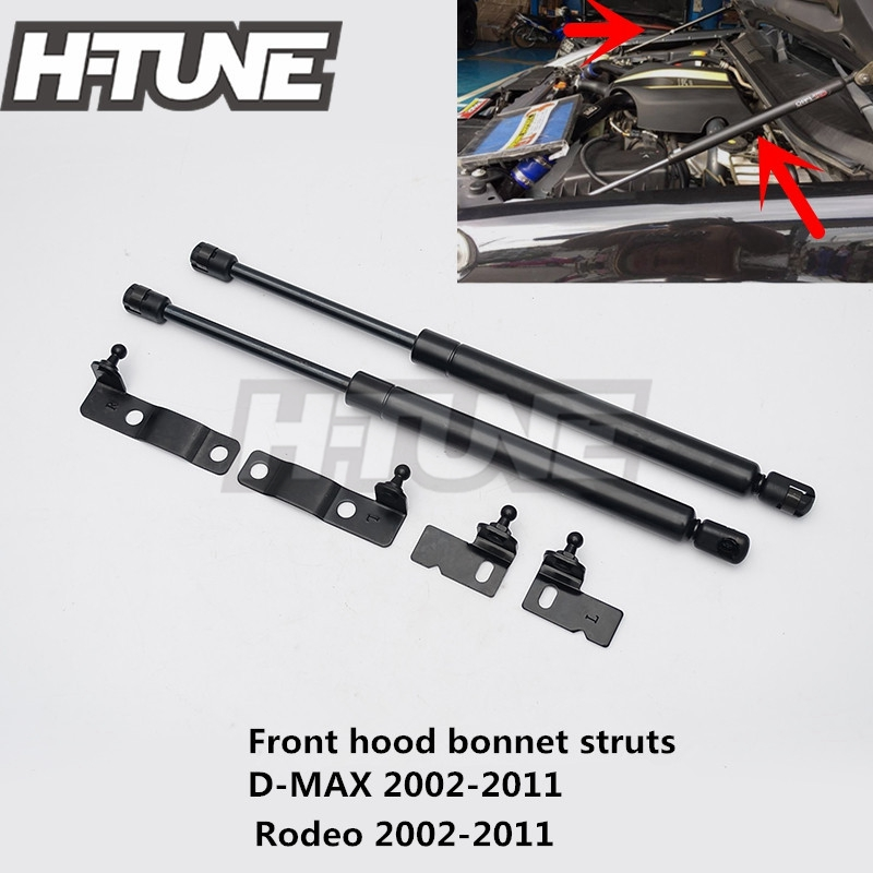 H-TUNE 4x4 Accessories Front Hood Gas Lift Support Struts Shock Damper for D-MAX / RODEO 02-11 h tune 4x4 accessories front hood bonnet gas lift support shock strut damper for navara d40 05 15