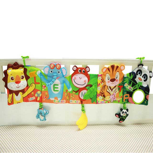 High Quality Lion Giraffe Infant Cloth Book Bed Multifunctional Bed Hang Rround