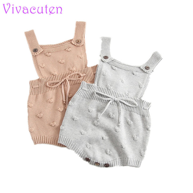 c802aa974 Baby Girls Knitting Romper Newborn Baby Girl Clothes Fashion Knitted ...