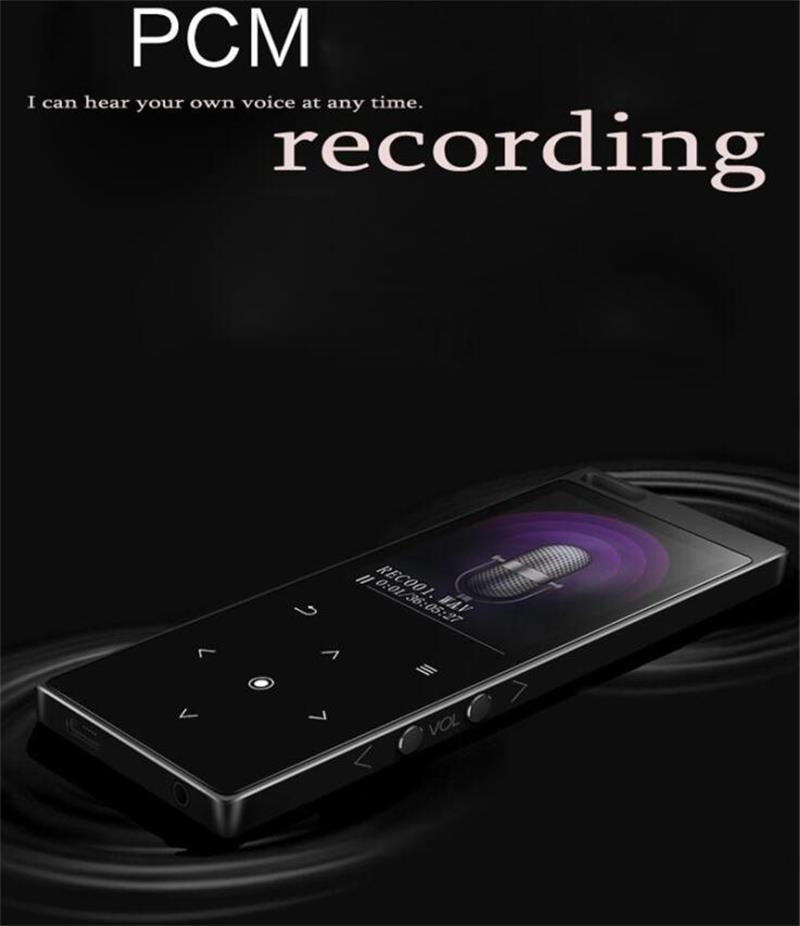 Leitor de música sem perdas de alta fidelidade do botão de toque do orador 16 gb do jogador mp4 com rádio de fm