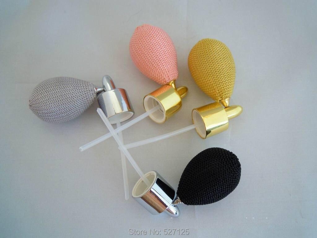 wholesale 100pieces lot multi colors elliptical top air bag pump for perfume bottle gasbag perfume sprayer