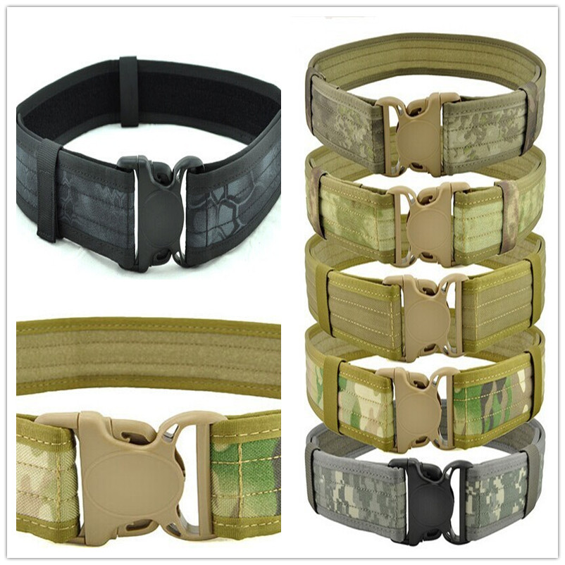 Military Men Tactical Belt 1000d Cordura Military Tactical Combat Airsoft Paintball Hunting Shooting Utility Tool Gun Fishing Orologi E Gioielli