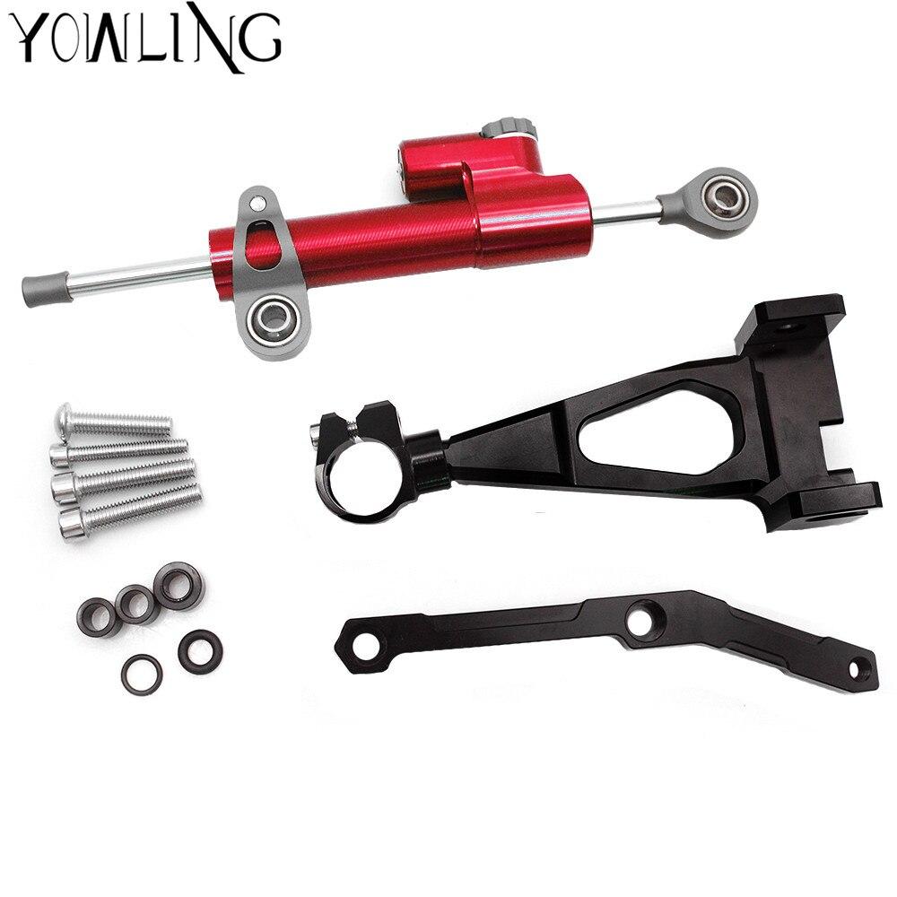 цена на For YAMAHA MT09 MT-09 FZ09 2013-2016 Motorcycle Steering Stabilize Damper Bracket Mount Damper Steering Motobike Support MT 09