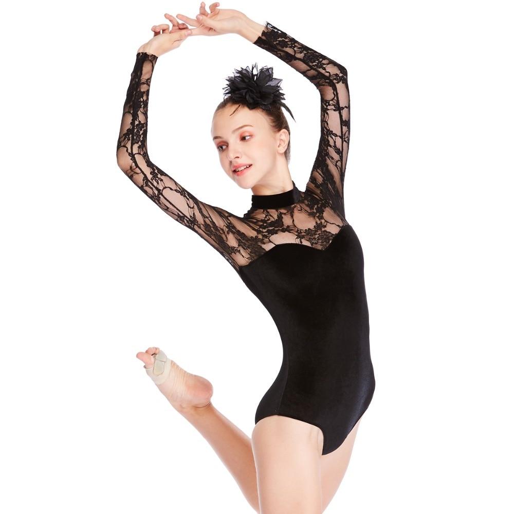 Lace Ballet Leotard Dance Costume Modern Clothing