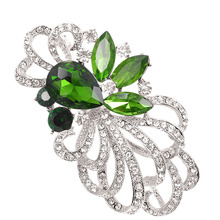 Imported Crystal Flower Brooches For Women Luxury Green Large Brooch Pins  Dresses Coat Jewelry Backpack Broches Gift MH0025 8c9779563d37