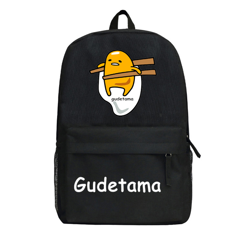 Anime Gudetama Cosplay Cartoon student campus men and women backpack casual child birthday gift anime pocket monster cosplay squirtle cartoon student bag casual birthday gift male and female backpack