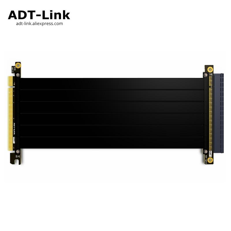 PCI Express PCI-E x16 to PCIE 3.0 16x pci e Riser case Graphics card extension Cable For GTX1080TI firepro w7100,quadroK VEGA64 цена и фото