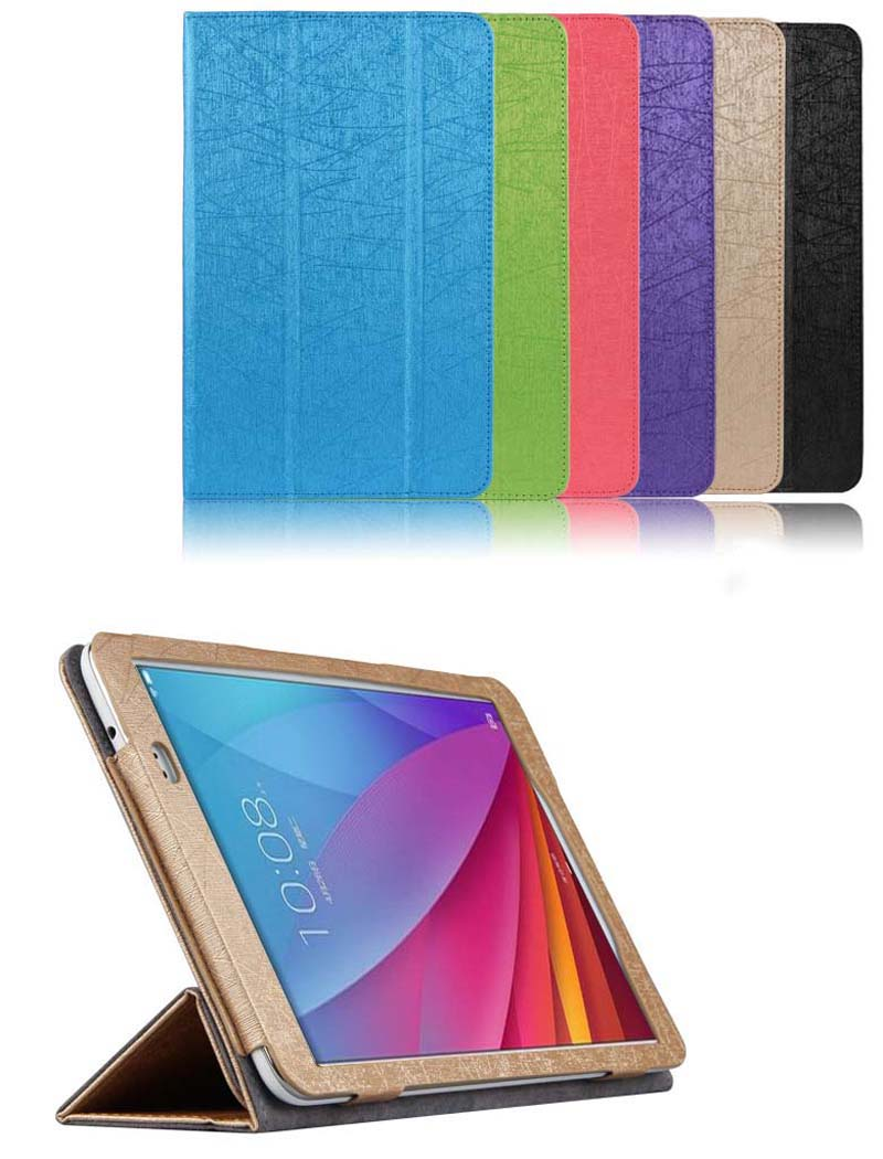Ultra Slim Mangetic Closure Silk Flip Stand PU Leather Cover Case For Huawei Honor Note T1