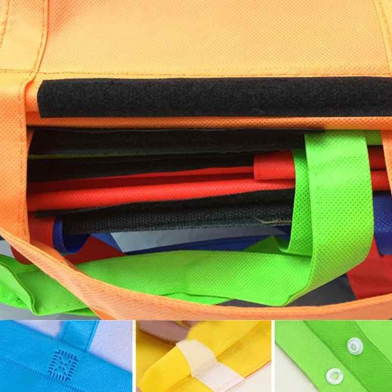 4 قطعة/المجموعة رشاقته عربة عربة سوبر ماركت أكياس التسوق أكياس قابلة للطي صديقة للبيئة قابلة لإعادة الاستخدام التسوق حقائب اليد المحمولة