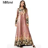 Women Patchwork Pink Dress Muslim Fashion Turkish Islamic Clothing Abaya Dubai Jewish Chiffon Muslim Dress Kaftan Abayas 2018