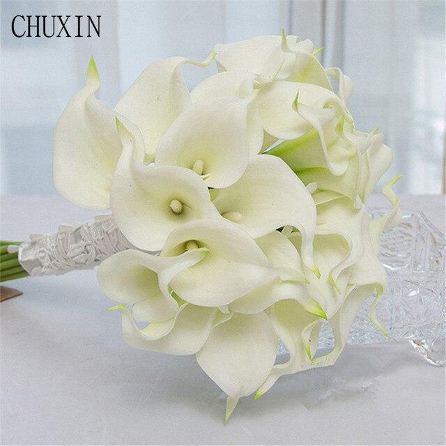 1SET DIY (Calla wedding flowers bridal bouquets + Calla Brooch ...