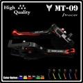 2016 nuevos dos colores (negro y rojo) de la motocicleta palancas de embrague del freno para yamaha mt09 y mt09 trazador 2014-2016 accesorios