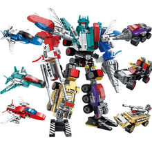 New 30 Style War Transformation Robot Vehicle Plane Car DIY Deformation Rrobot Legoes Building Blocks Brick Kit Toy Kids Gift(China)