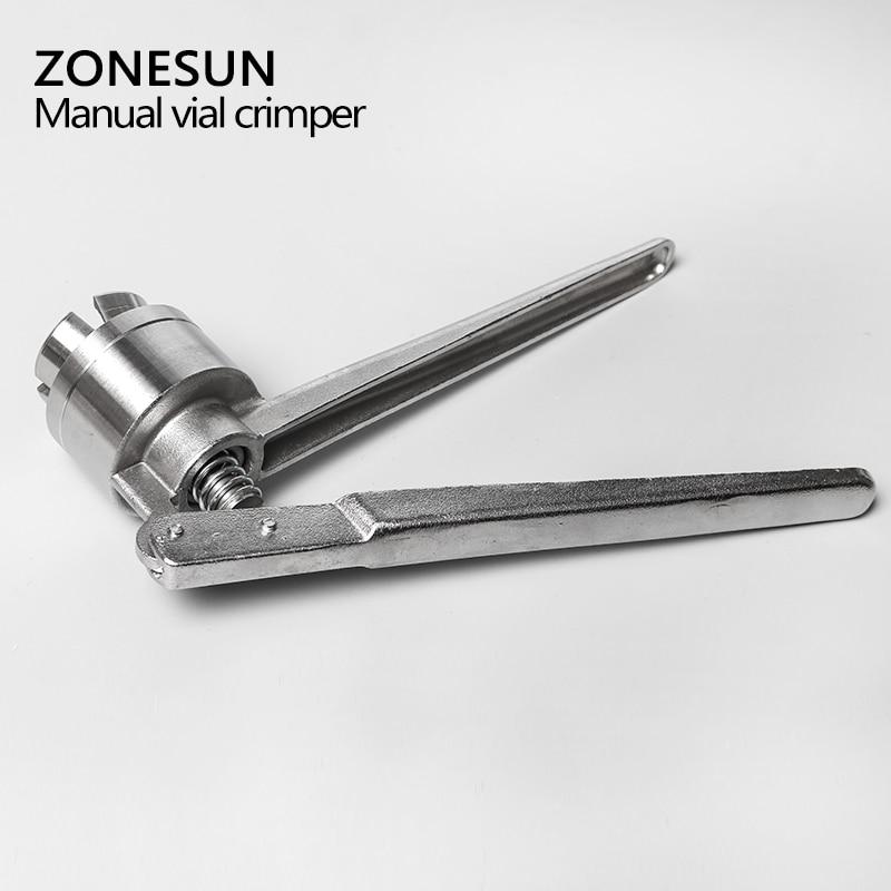 ZONESUN Manual Vial Crimper Medical Crimper Bottle Cap Crimping Tool Antibiotics Bottle Capper Machine Handheld Capping Machine