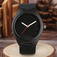 Natural Walnut Wood Watch Soft Leather Strap Minimalist Fash