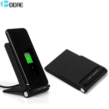 DCAE 3 Coil Qi Wireless Charger USB Charger 10W for iPhone 8 10 X Samsung S8 S9 S7 Note 8 Fast Charging Pad Docking Dock Station