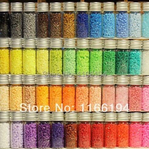 2.6mm Hama Beads ~ Beads Perler ~ Perline Fusibili Set di 48 Colori 23000 pz + 3 Template + 5 Carta di Ferro 2 Pinzette, Per Bambini Fai Da Te Toy Craft ~ Nuovo Set